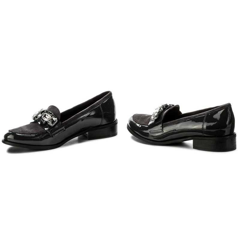 Zapatos SAGAN - 2835 Szary Lakier Kamienie 0LjU3B