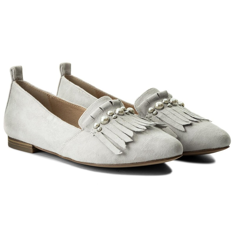 Lords Schuhe CAPRICE - 9-24202-20 Lt Grey Suede 201 kgCqaoGAW