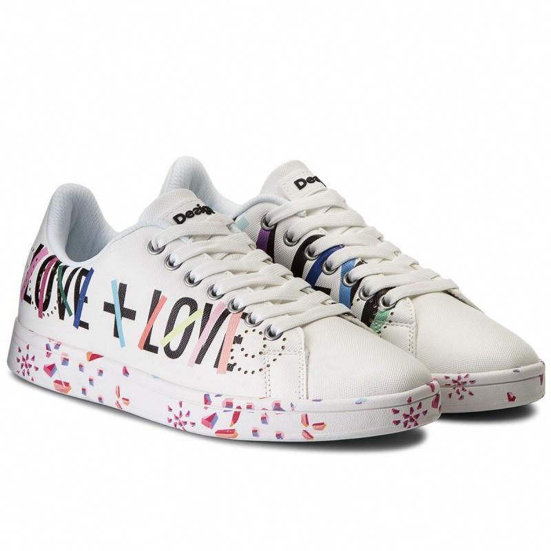 Desigual 18SSKP08 Sneakers Femme White 41 HrnFQlIfK5