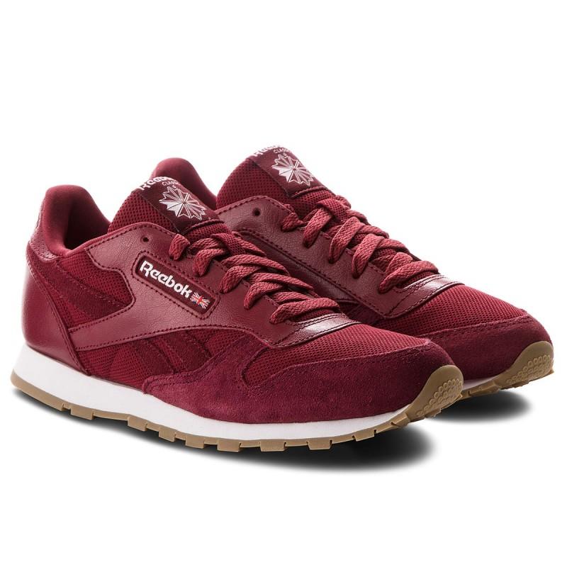 Schuhe Reebok - Cl Leather Estl CN1134 Urban Maroon/White OLy1PTL