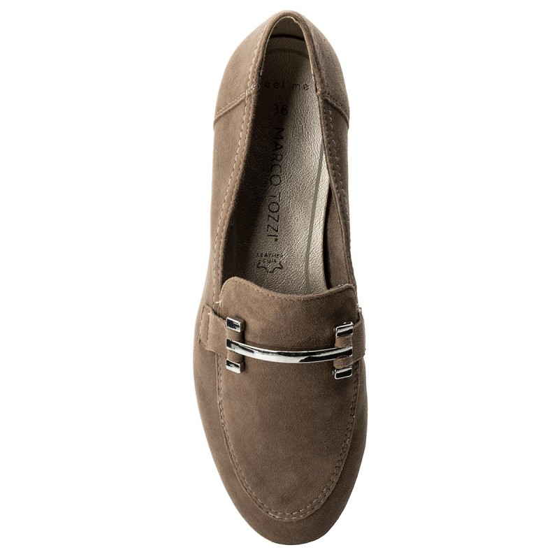 Lords Schuhe MARCO TOZZI - 2-24240-20 Taupe Suede 326 yMqTT6