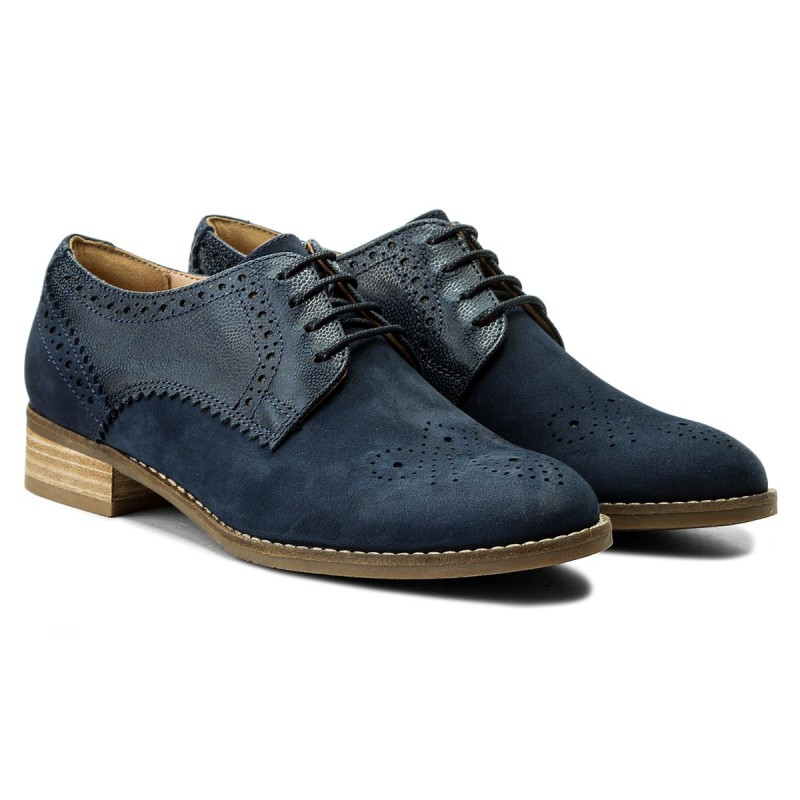 Oxfords CLARKS - Netley Rose 261309374 Navy Combi Vk3dPzqq
