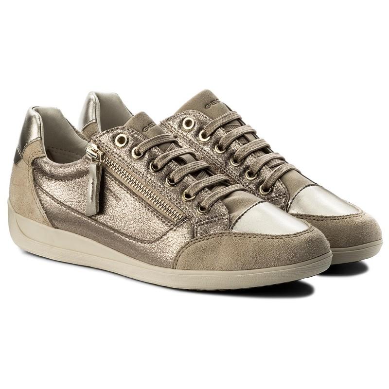 Sneakers GEOX - D Myria A D6468A 0CD22 C9HH6 Lead/Lt Taupe fL0u7tzp