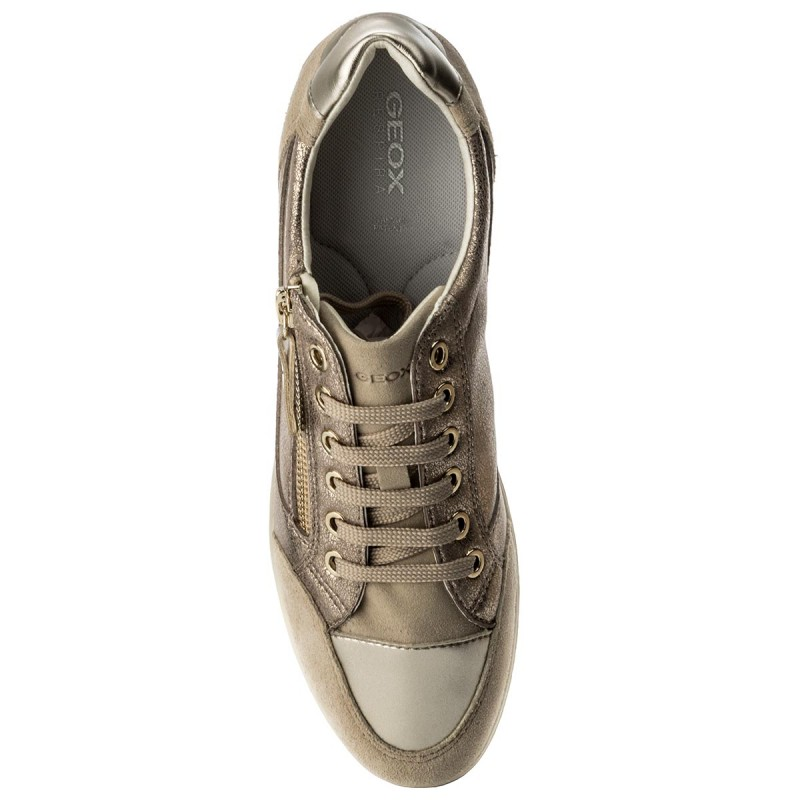 Sneakers GEOX - D Myria A D6468A 0CD22 C9HH6 Lead/Lt Taupe Zf02BEo