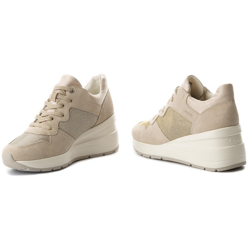 Sneakers GEOX - D Zosma C D828LC 022EW C6738 Lt Taupe