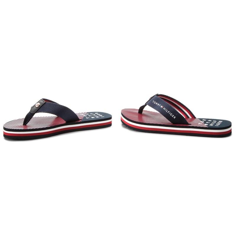 Tommy Hilfiger Essential Stripe Beach Sandal - Midnight 38 EU SpyrFl