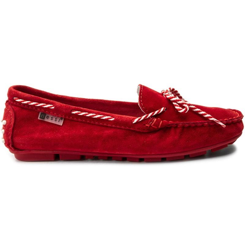 Mokassins NESSI - 18307 Czerwony W hFgKZx