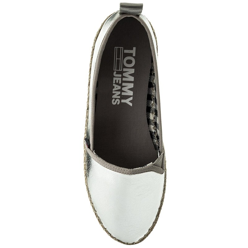 Tommy JeansSPORTY METALLIC SLIP ON - Espadrilles - silver Ud83UE7P