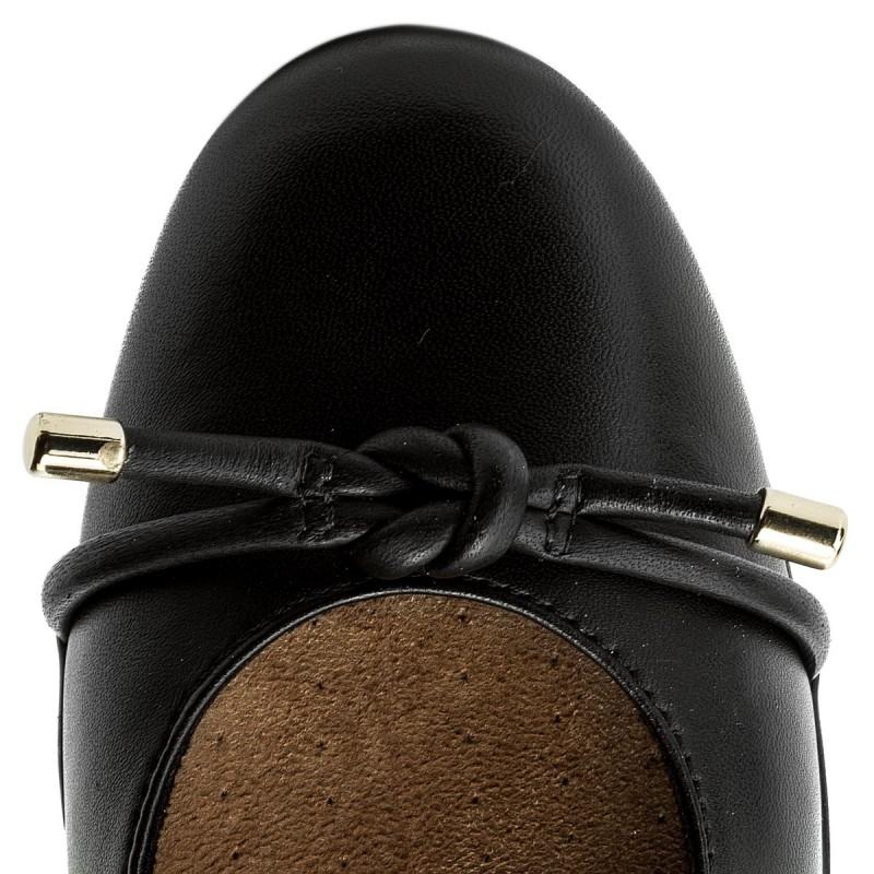 Flats CLARKS - Neenah Poppy 261323664 Black Leather