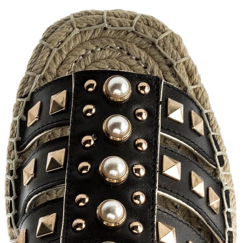 Espadrilles LIU JO - Sandalo Flat S18037 P0301 Black 22222 vy4J59fN