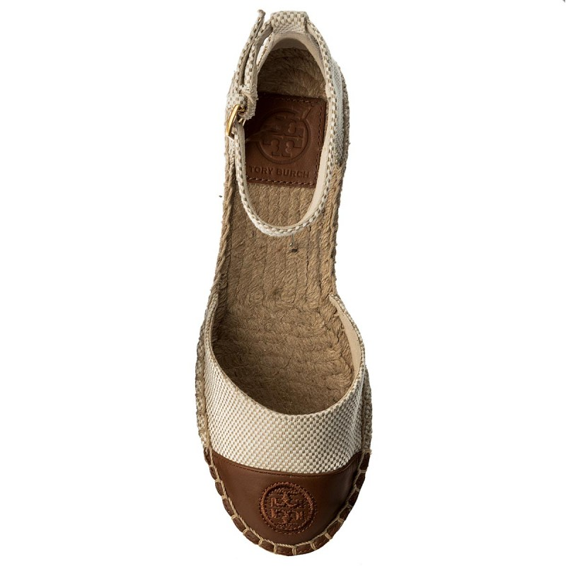 Espadrilles TORY BURCH - Color Block Ankle-Strap Espadrille 47027 Perfect Sand/Perfect Cuoio 241 xJEIec9g