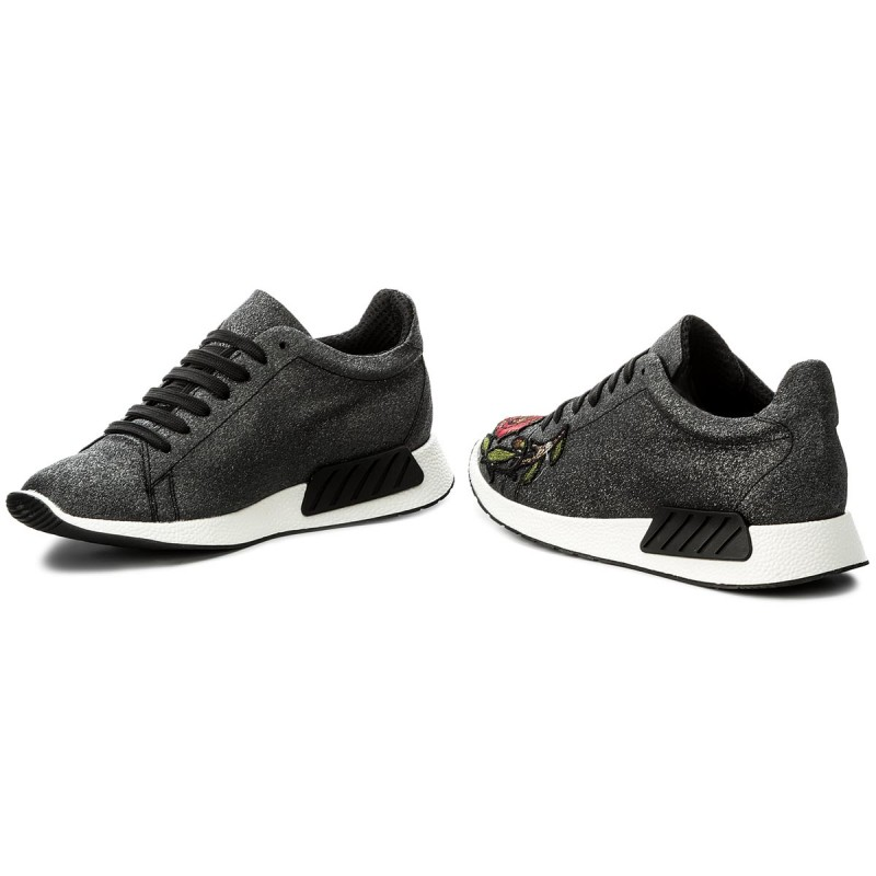 Sneakers HEGO'S MILANO - 1006 Glitter Fine Nero/Mezza Tigre XDk1gE