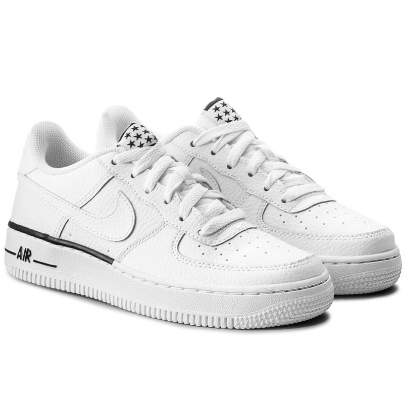 Shoes NIKE - Air Force 1 (GS) 596728 103 White/White/Black