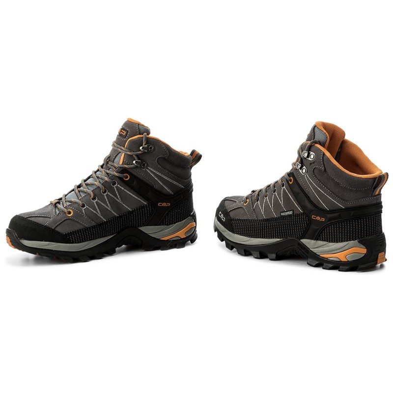 CMPRIGEL LOW SHOES WP - Hiking shoes - grey/aperol vouMk