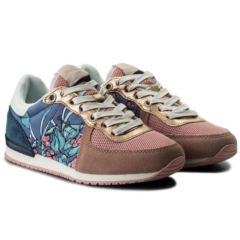 Sneakers PEPE JEANS - Sydney Flowers PGS30346 Coral 169 60YJEnhkyz