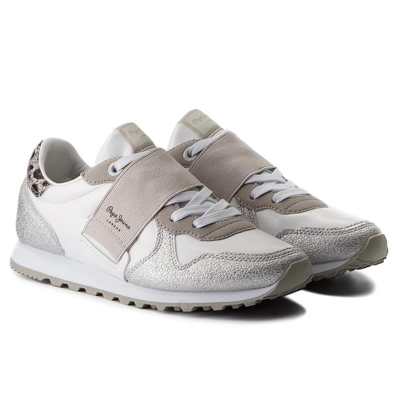 100% Garantizada En Línea Fiable Barato Sneakers PEPE JEANS - Verona W Elastic PLS30624 White 800 Envío Bajo tKUdP