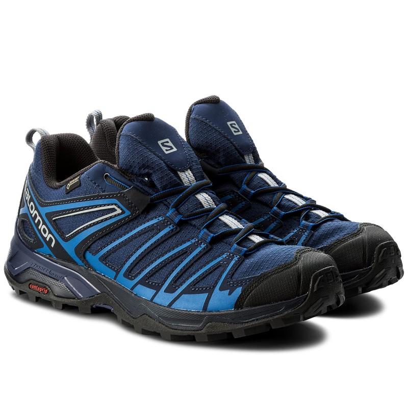 Trekker Boots SALOMON - X Ultra 3 Prime Gtx GORE-TEX 401280 31 W0 Medieval  Blue/Nautical Blue/Alloy - Trekker boots - Low shoes - Men\u0027s shoes ...