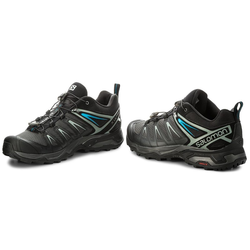 SalomonX ULTRA 3 - Hiking shoes - phantom/black/hawaiian surf ksQkvKs4