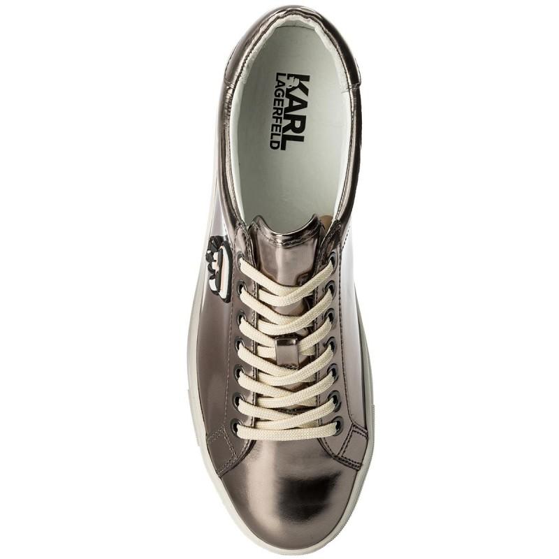 Sneakers KARL LAGERFELD - KL61033 Dk Silver Mirror Lthr BErGah