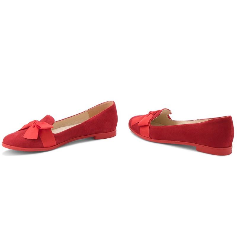 Lords Schuhe BALDACCINI - 101300-7 Czerwony Zamsz Tu6ZcL