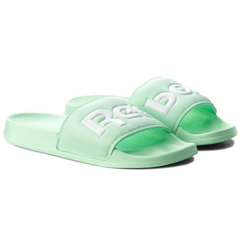 Reebok Classic CLASSIC SLIDE - Mules - splt/digital green/white OVJ1OpYUmF