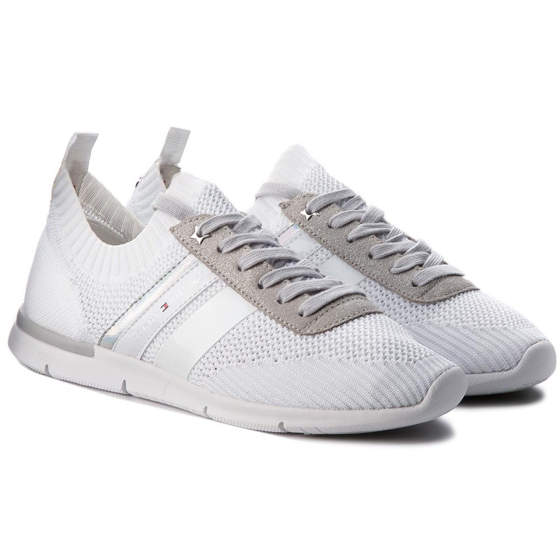 Sneakers TOMMY HILFIGER - Knited Light Weight Sneaker FW0FW03035 White 100 Rbn5uA8yCH