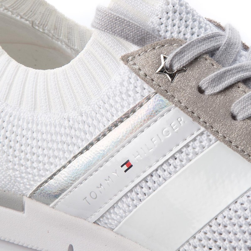 Sneakers TOMMY HILFIGER - Knited Light Weight Sneaker FW0FW03035 White 100 WsW37sB