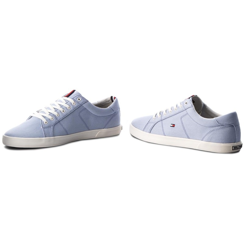 Tommy Hilfiger ICONIC LONG LACE - Trainers - halogen blue cajrA
