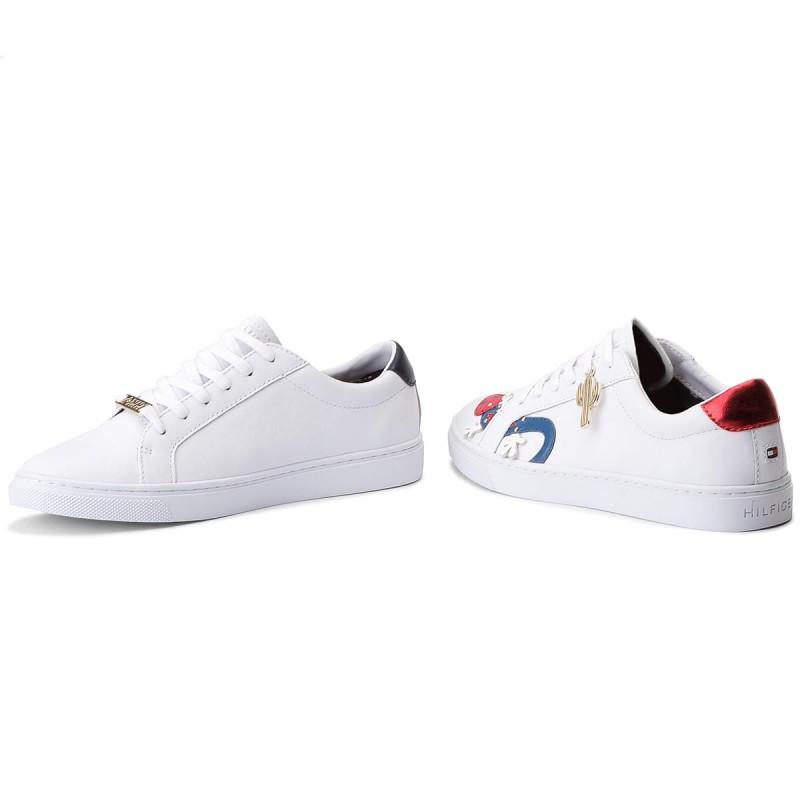 White Tommy Hilfiger Shoe Embelish Essential Sneaker ZTcbqrNfbE