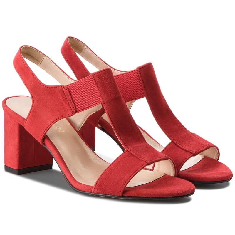 Sandalen SAGAN - 2927 Czerwony Welur 5MqTqGEMw