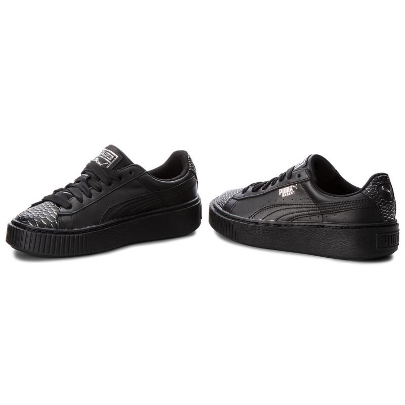 Verkauf Echten Sneakers PUMA - Basket Platform Ocean 366442 01 PumaBlk/PumaSilver/PumaBlk Billig Verkauf Bestseller yJehbfJC
