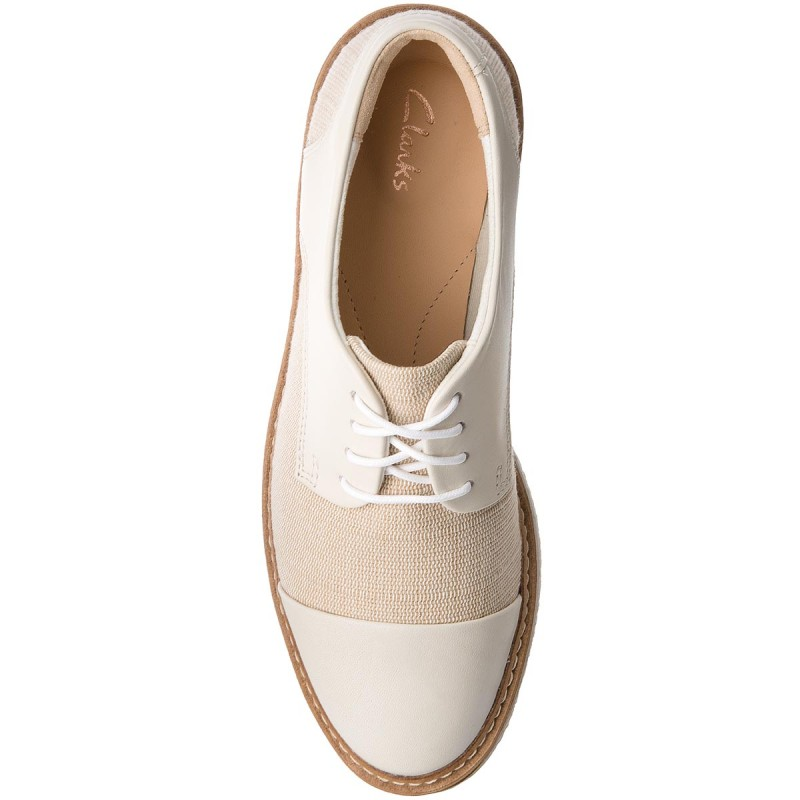 Oxfords CLARKS - Zante Sienna 261326964 White Canvas caGK2X3Ik