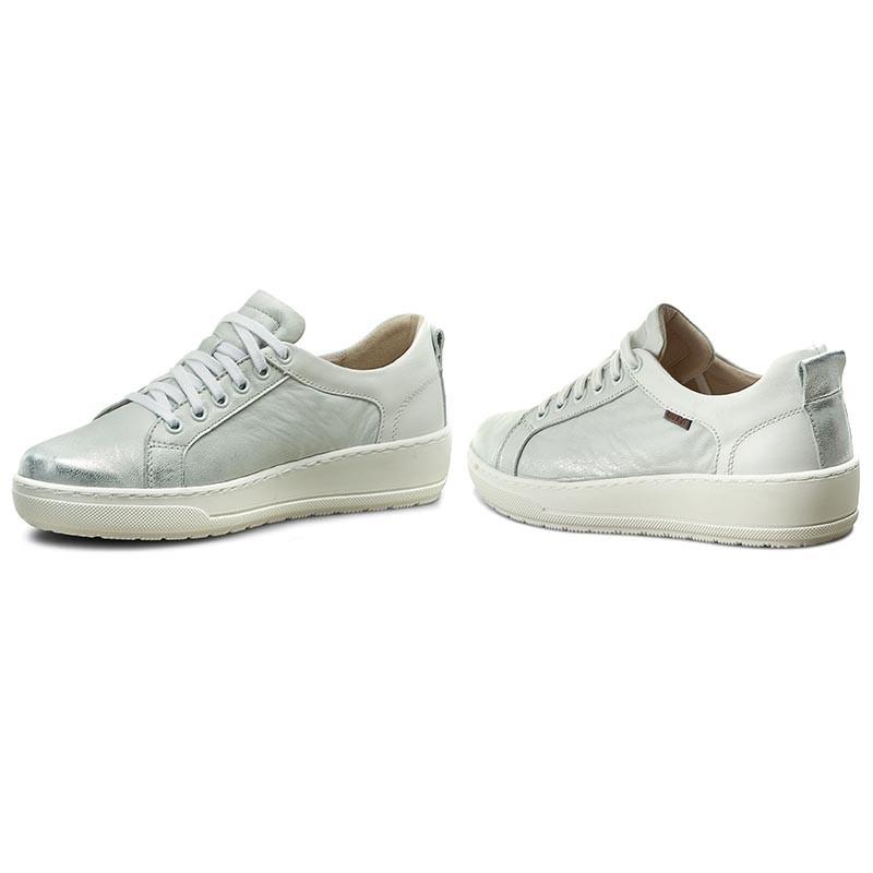 Sneakers QUAZI - DELEKTA-04 Srebrny/Biały jYB5Eb3