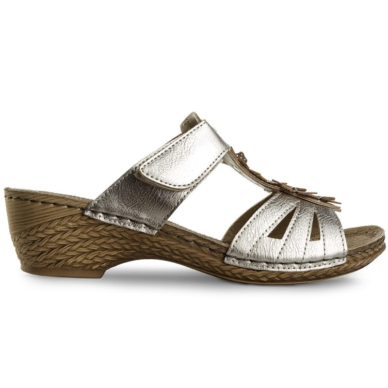 Slides INBLU  TRAWOO91 Silver  Casual mules  Mules  Mules and sandals  Womens shoes       2220683030004