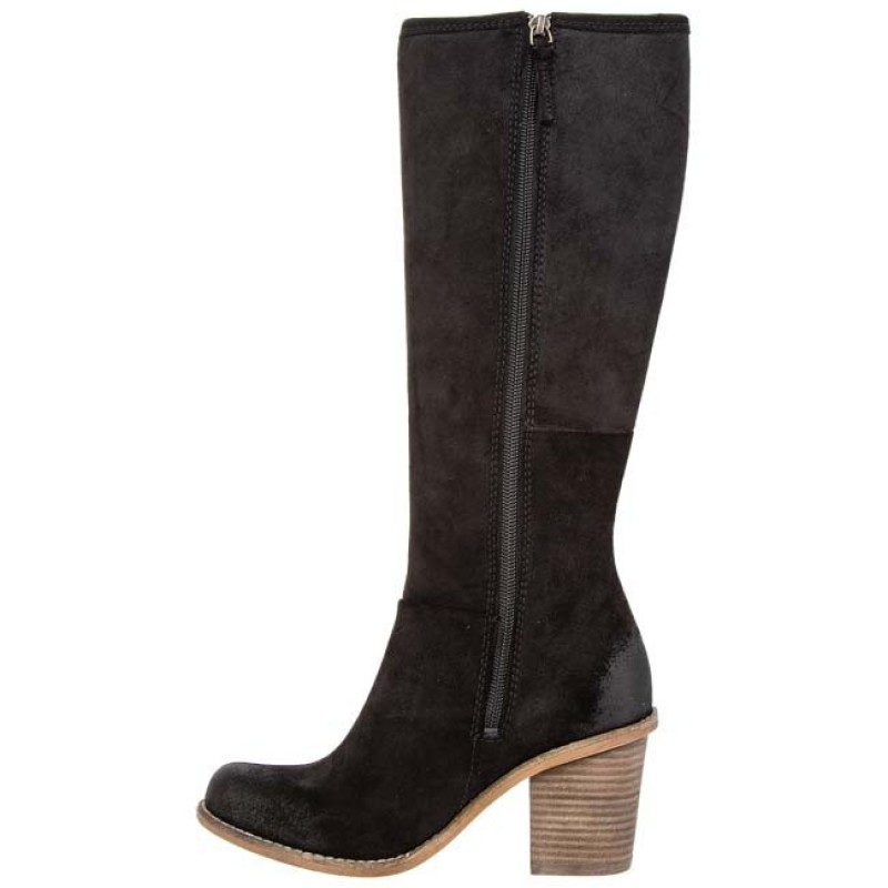 Knee High Boots CLARKS - Marble Mine 20357044 4 Black Suede