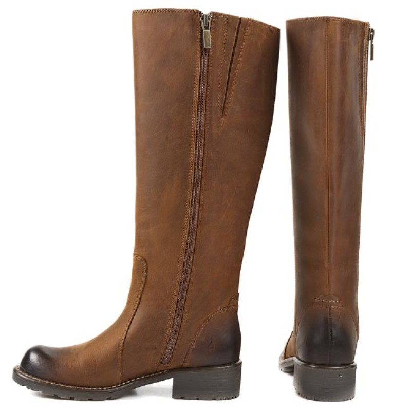 Knee High Boots CLARKS - Orinoco Eave 261040715 Brown Snuff