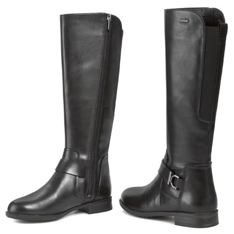 Knee High Boots CLARKS - Mint Treat GTX GORE-TEX 261027564 Black Leather