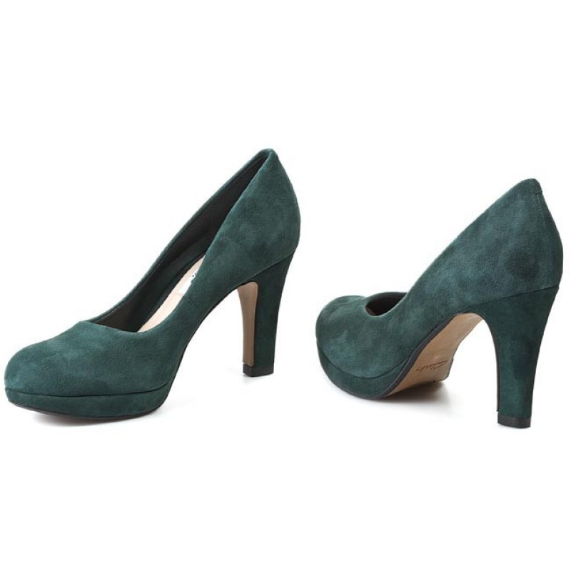 Clarks Crisp Kendra High Heels Color: Green