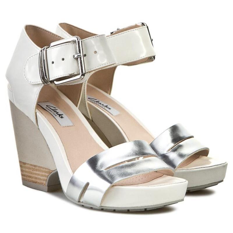 Sandals CLARKS - Rosalie Pose 261084574 White Combi