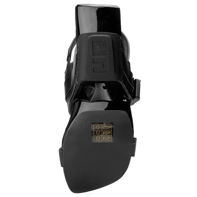 Lyst - United Nude Eros Curved Heel Sandals in Black