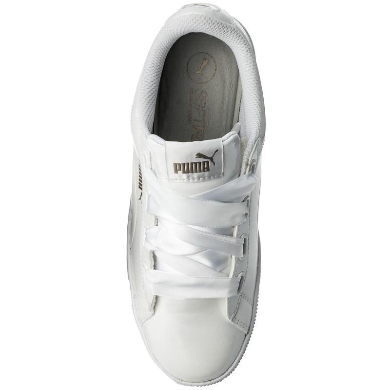 White Canvas Ribbon Shoes