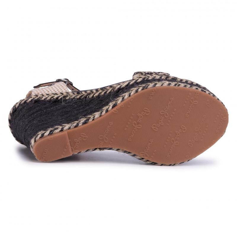 Espadrilles PEPE JEANS - Ohara Logo PLS90459 Black 999 - Espadrilles - Mules and sandals - Women's shoes
