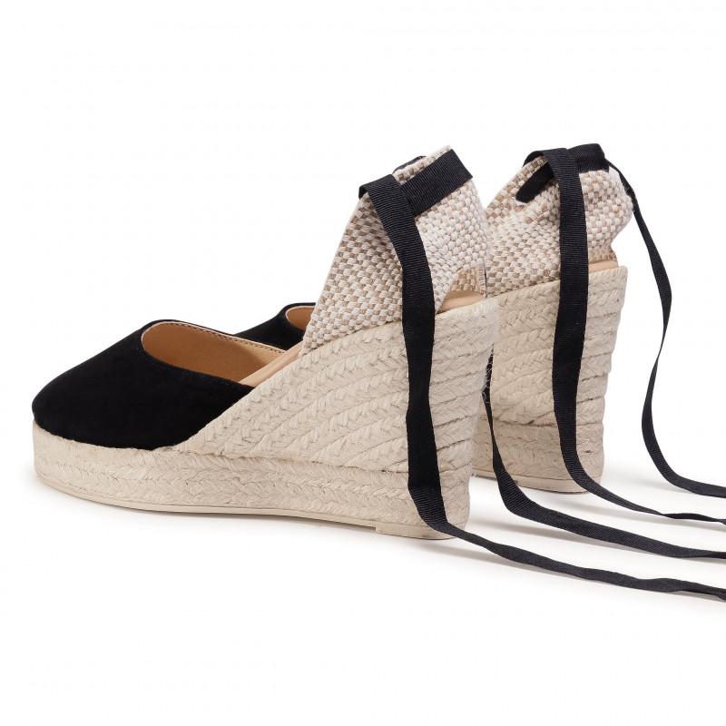 Espadrilles MANEBI - Wedge Valenciana K 1.0 WV Black - Espadrilles - Mules and sandals - Women's shoes