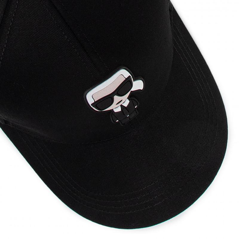 Cap KARL LAGERFELD - 205W3403 Black 999 - Caps - Women's - Hats - Fabrics - Accessories