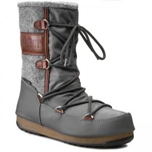 bottes pour la neige moon boot lem lea Noir Noir Noir  bottes d'hiver 53c035