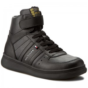 9982f5bec1a465 Boots TOMMY HILFIGER - Zero Jr 4A FB56821766 Black 990 - Boots - High boots  and others - Boy - Kids  shoes - www.efootwear.eu