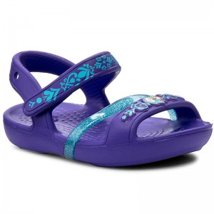 a16bb2456b9d Sandals CROCS - Lina Frozen Sandal K 204139 Ultraviolet - Sandals - Clogs  and sandals - Girl - Kids  shoes - www.efootwear.eu
