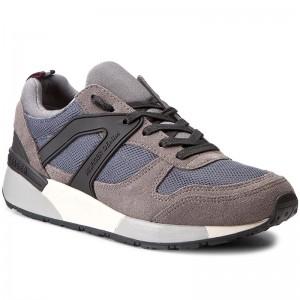 4152681cd96d2c Sneakers TOMMY HILFIGER - DENIM Track 2C5 FM0FM01048 Steel Grey Silver 904  - Sneakers - Low shoes - Men s shoes - www.efootwear.eu