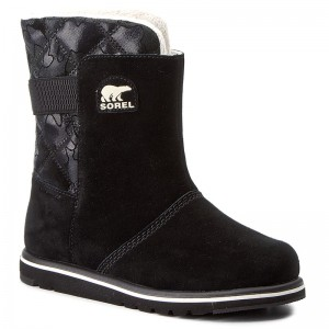 Shoes SOREL - Youth Rylee Camo NY1900 Black/Light Bisque 010