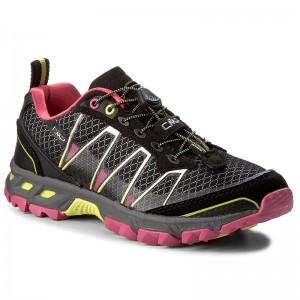 Trekker Boots CMP - Atlas Wmn Trail Shoes 3Q95266 Nero/Rasperry/Acido 56AE